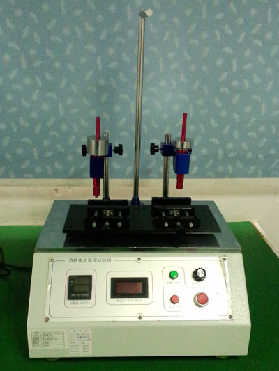 Alcohol rubber friction test machine